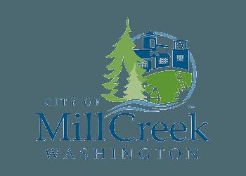 Mill creek city seal logo