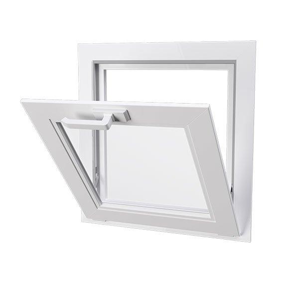 hopper style window
