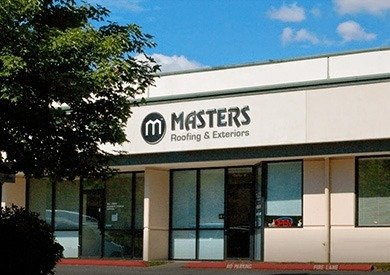 masters roofing showroom